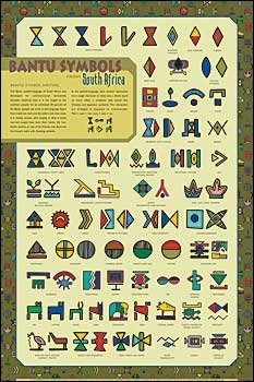 Bantu Symbols - South Africa Poster