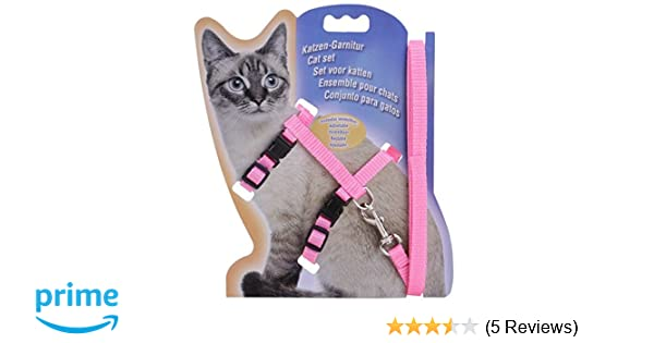 Amazon.com : Ubpet Cat Dog Collar Pet Lead Leash Halter Harness Adjustable Safety Nylon Rope, Polyester (Pink) : Pet Supplies