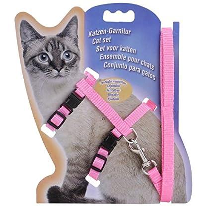 Ubpet Cat Dog Collar Pet Lead Leash Halter Harness Adjustable Safety Nylon Rope,Polyester (