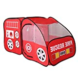 Kids Childrens Playhouse Indoor Outdoor Pop Up Fire Truck Car Play Tent Toy