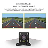 Backup Camera with Follow the steering wheel to the trajectory - Wide Angle HD Night Vision Car Rear View camera
