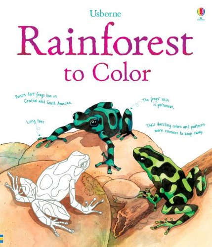 Rainforest to Color (Nature Coloring Books)