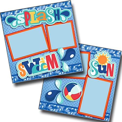 (Splash Swim Sun - Premade Scrapbook Pages - EZ Layout 3382 )