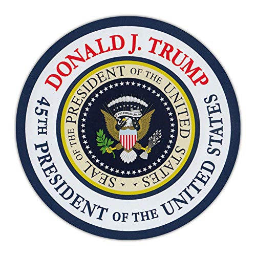 Crazy Novelty Guy Round Magnet - Donald J. Trump 45th President Commemorative Magnet - Magnetic Bumper Sticker - 4.75