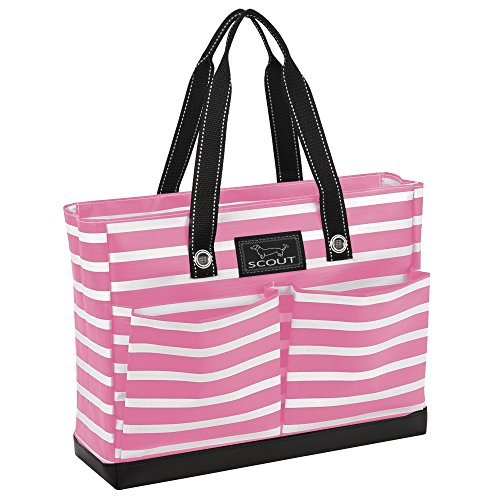 SCOUT Uptown Girl Medium Multi-Pocket Tote Bag, Water Resistant, Zips Closed, Panama Pink by SCOUT