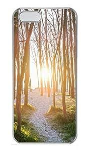 iPhone 5 5S Case landscapes nature sun trees 28 PC Custom iPhone 5 5S Case Cover Transparent