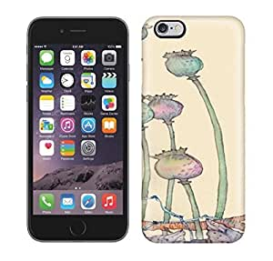 Best Power(Tm) HD Colorful Painted Watercolor Sad And Angry Lotus Flower Hard Phone Case For Iphone 6 Plus