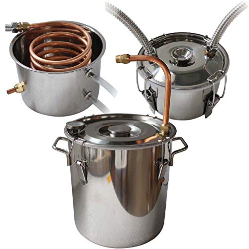 Vanell 8 Gal Home Distiller Moonshine Still Brewing Distiller Stainless Steel Water Wine Alcohol Distiller Distilling Equipment Copper Tube Boiler Home DIY Brewing Kit With Condender Keg NO Valve by Vanell (Image #5)