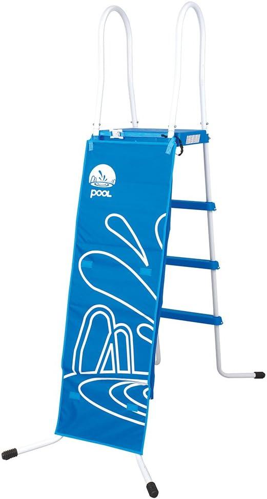 Escalera en escalera de piscina 122 cm, 3 peldaños antideslizantes robusta 29R114F: Amazon.es: Jardín
