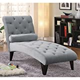 Elegant and Modern Chaise Lounge, Timeless Design, Sleek Silhouette Yet is Padded With Plush Foam Cushioning and Detailed With Tailored Rufting, Match Well With Any Interior Design