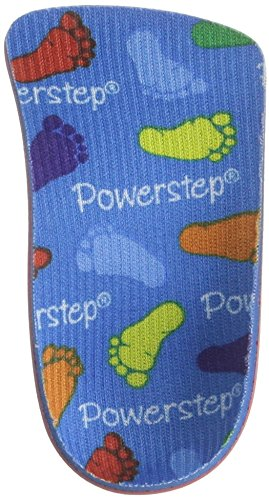 Powerstep PowerKids Pediatric Shoe Insoles, Blue, 3 M US Big Kid