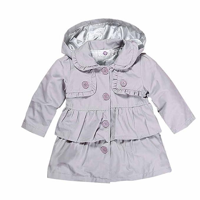 Kids Tales Niños Cuentos bebé niñas niño niña caída Trinchera Abrigo Chaqueta de Viento Abrigos: Amazon.es: Ropa y accesorios