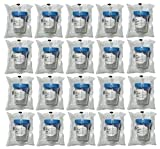 20 Pack of Vakly 4oz Sterile Specimen Cups Individually Bagged with Screw On Lids
