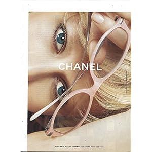 MAGAZINE ADVERTISEMENT For 2003 Chanel Pink Framed Eyewear