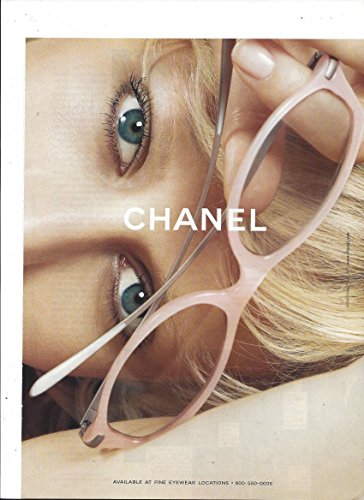 Large **PRINT AD** For 2003 Chanel Pink Framed - Chanel Eyewear