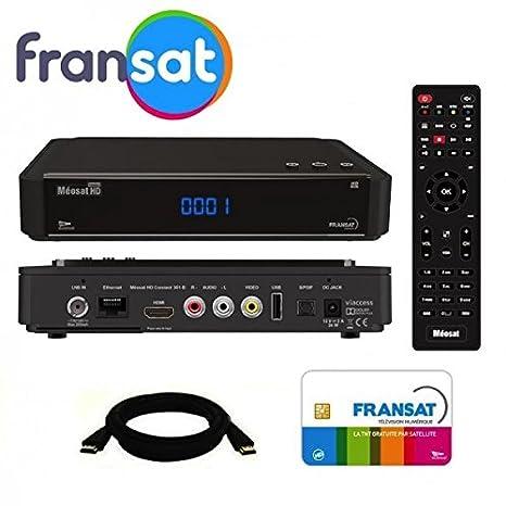 Meosat receptor satélite HD + tarjeta FRANSAT incluye cable ...