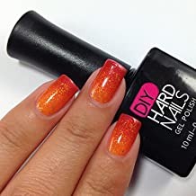 Gel Nail Polish - DIY Hard Nails - Shellac Nail Polish - Glamorous Color Changing, Glitters, and Shimmering Gel Nail Polish Colors - BONUS: FREE Gel Nail Salon E-BOOK Guide with Every Purchase (Sun Glow)
