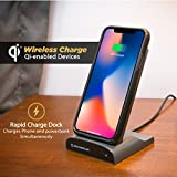 SCOSCHE WDQ2M STUCKUP Qi-Certified Wireless Charging Universal Phone/GPS Suction Cup Mount with Car Adapter and Type-C Cable for The Car, Home or Office