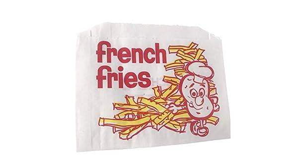 Amazon.com: 200 Bolsas de papel de patatas fritas 5 – 1/2
