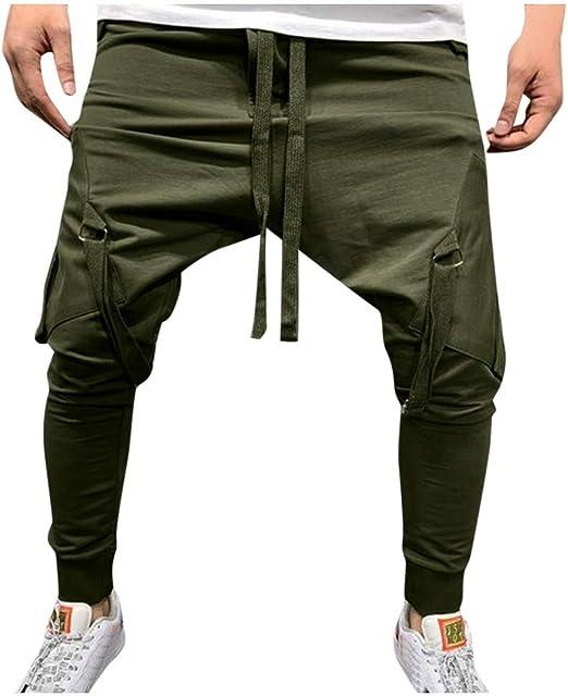 iLXHD Men Shorts Sport Drawstring Beach Pants Cotton Sweatpants Fitness Short Jogger Casual Pants