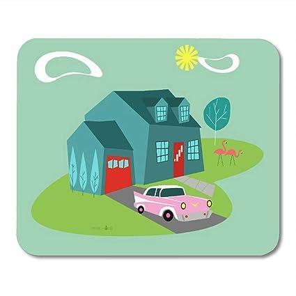 Amazon com : LIminglove Pink Mid Retro Suburban House