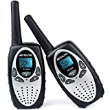 Retevis RT628 Long Range Kids Walkie Talkie Children Two Way Radio Handheld Radio for Outdoor Camping Hiking with VOX Scan Function (Silvery,1 Pair)