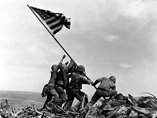 (Raising the Flag on Iwo Jima US Army Troops Soldiers 24x18 Print Poster)