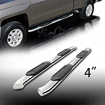 """For 1999-2016 F250//F350 Superduty Crew 5/"""" Oval Chrome Side Step Bars Rail Boards"""