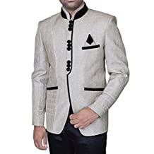 INMONARCH Mens Attractive Off White Desinger 3 Pc Jodhpuri Suit JO326