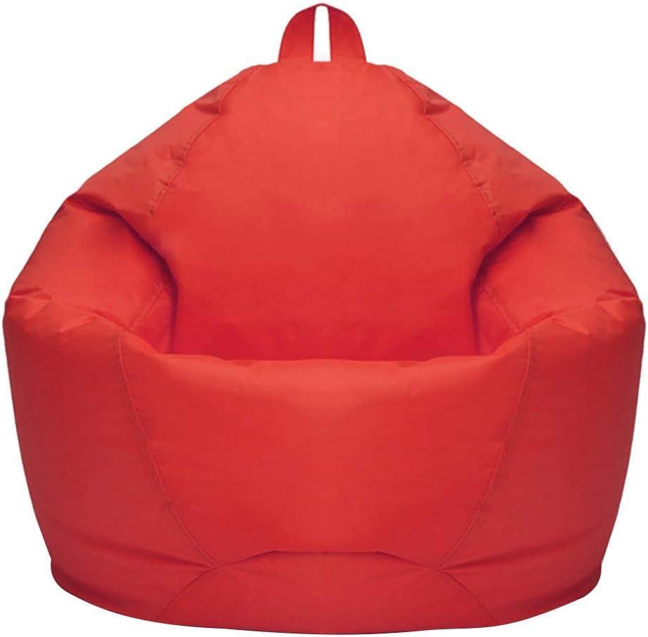 Amusingtao Puf Cubierta Muebles Sofás Interior Suave Dormitorio Sofá Oxford Tela Hogar Adultos Niños Flojos Chaise Longue Nórdico Estilo Living Om Sin Relleno (Rojo) - Rojo, Free Size