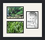3 photo frame - ArtToFrames Collage Photo Frame Double Mat with 3 - 5x7 Openings and Satin Black Frame
