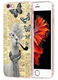 Case For Iphone 6S Plus Animal & Cover For 6S Plus & MUQR Replacement Skin Rubber Gel Silicone Slim Drop Proof Protection Protector For Iphone 6/6S Plus & A White Alpacas With Glasses