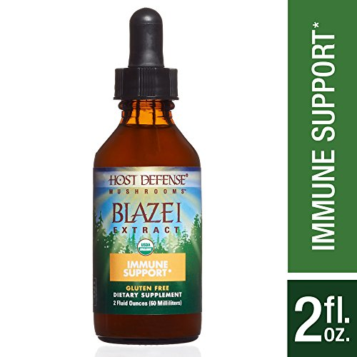 Host Defense – Blazei Mushroom Extract, Supports Immunity and Wellbeing on a Cellular Level, Non-GMO, Vegan, Organic, 60 Servings (2 Ounces) For Sale