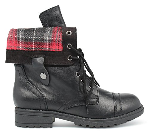 Girls Kids Childrens Hybrid Ankle and Mid Calf Military Combat Boots