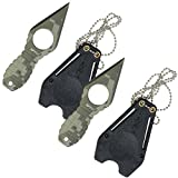 MTech USA MT-588DG Fixed Blade Neck Knife, Green Digital Camo Blade and Grenade-Style Handle, 4-1/4-Inch Overall (2 Packs)
