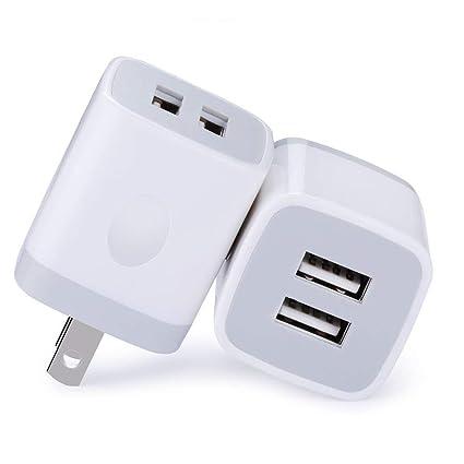 Amazon.com: TePoo - Juego de 3 enchufes USB de pared para ...
