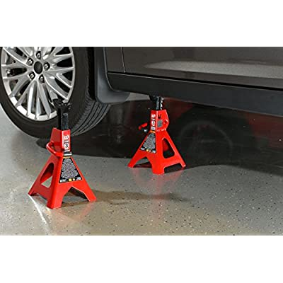 Torin T43002  Big Red Steel Jack Stands: 3 Ton Capacity, 1 Pair: Automotive