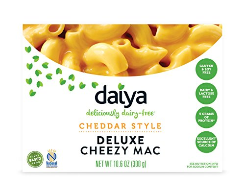 Daiya Cheezy Mac, Cheddar Style :: Rich & Creamy Plant-Based Mac & Cheese :: Deliciously Dairy Free, Vegan, Gluten Free, Soy Free :: Whole Grain Gluten Free Noodles, 10.6 Oz. Box (4 Pack) (Best Vegan Macaroni And Cheese)