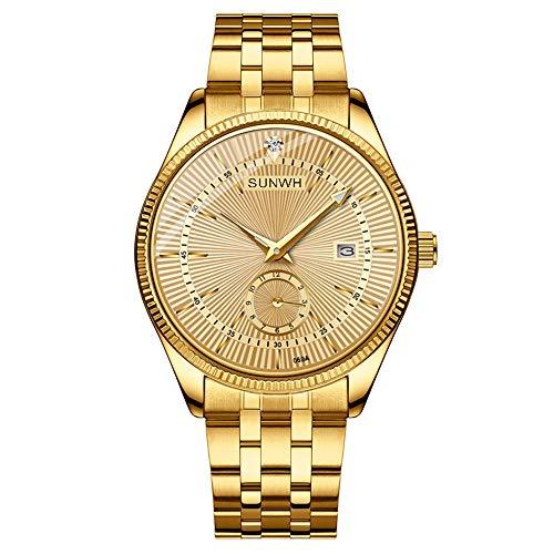 Watches Men Luxury Brand Men Sports Watches Waterproof Full Steel Quartz Men's Full gold Watch