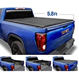 Tyger Auto T1 Soft Roll Up Truck Bed Tonneau Cover for 2019-2020 Chevy Silverado/GMC Sierra 1500 New Body Style Fleetside 5.8' Bed TG-BC1C9053