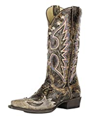 Stetson Western Boot Womens Eagle Reagan Brown 12-021-6105-1007 BR