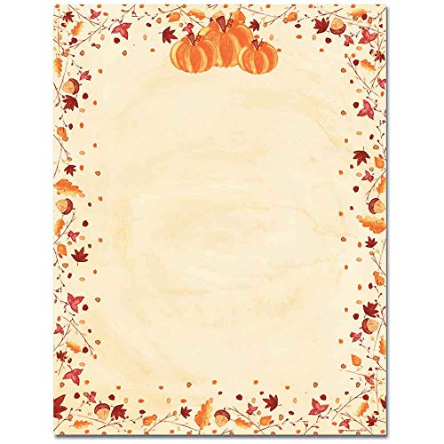 - Painted Orange Pumpkins Halloween, Thanksgiving, Fall & Autumn Laser & Inkjet Computer Printer Paper