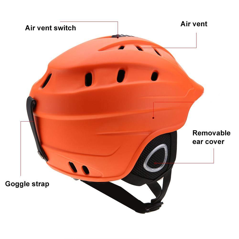 Dioche Ski Helmet Unisex Adults Ski Snowboard Helmet Outdoor Snow Sports Head Protector Gear