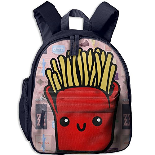 French Fries2 Comfy School Bags,Custom Cute Children Shoulder Daypack,Print Backpack For Kids - Chip On The Shoulder Costume