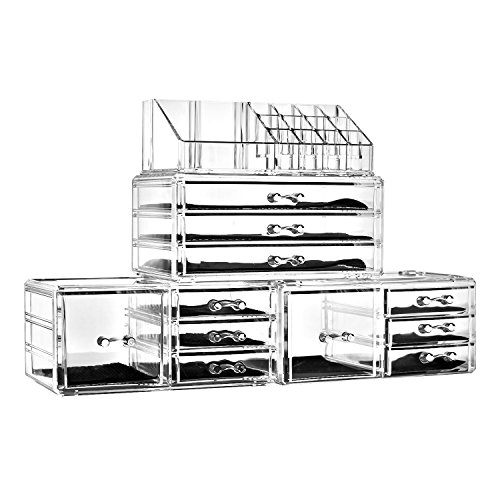 Felicite Home Acrylic Jewelry and Cosmetic Storage Makeup Organizer