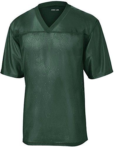 Joe's USA Mens Replica Athletic Football Jersey-Green-4XL