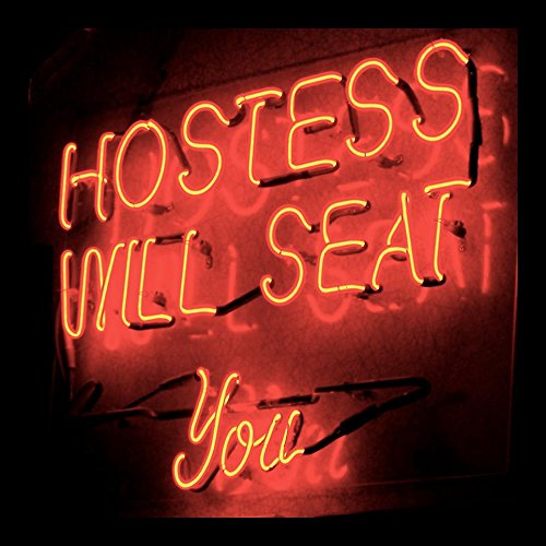 FRAMED Hostess Will Seat You by Graffitee Studios 12x12 Art Print Posters Decor Neon Sign Vintage Americana Diner Restaurant Waitress