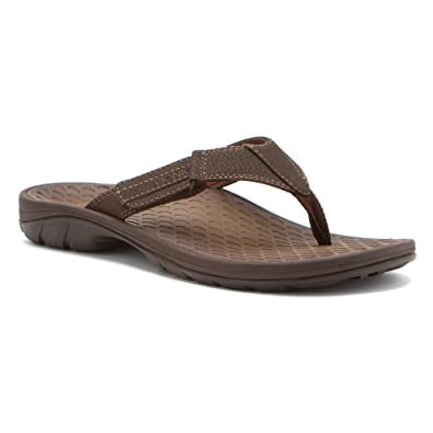 1721627230ab VIONIC with Orthaheel Technology Men s Harbor Brown Sandal 14 D - Medium UK  Size   13