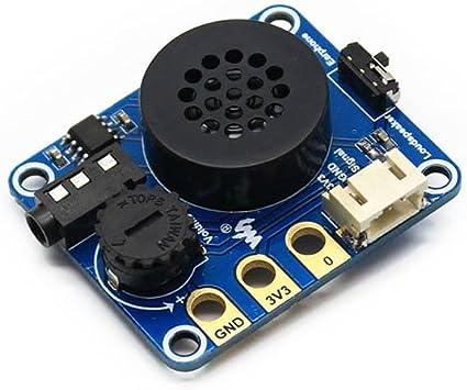 Aihasd Altavoz M/ódulo de expansi/ón con Pinzas de cocodrilo para Arduino para BBC Micro bit para microbit