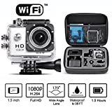 s2 full housing - Neewer 1.5 Inch LCD Display 1080P H.264 WiFi Sports Camera Bundle with 170° Wide Angle Full HD Lens, Shockproof Case and Accessorie Kit, Silver (22 Items)